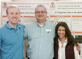 Dr. Hajdu with students at VCOM-Carolinas Fall Research Fair