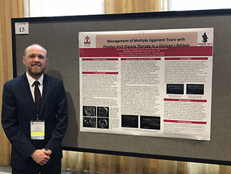 David Leslie, DO, presented a poster at the AOASM Clinical Conference