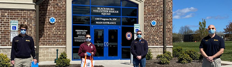 Dropoff of maskt to Blacksburg Volunteer Rescue squad_web.jpg