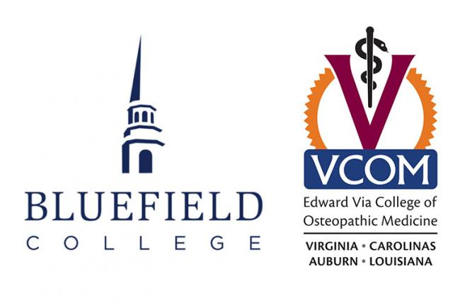 Bluefield College and VCOM logos