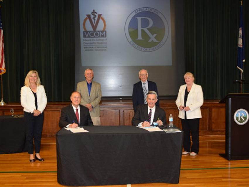 Signing of Agreement - Harvey Peter's Center Foundation regarding VCOM and the Appalachian College of Pharmacy