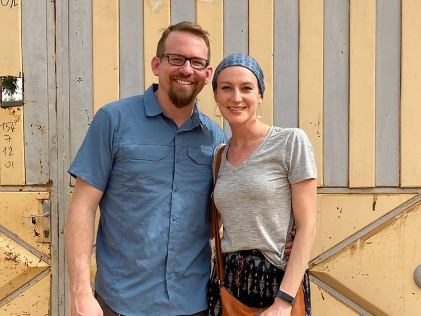 Chelsea Porter DO and Husband arrive in Africa